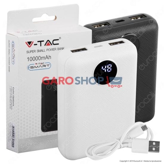 Immagine di V-TAC VT-3501 POWER BANK PORTATILE 10000 MAH 2 USCITE USB 2,1A