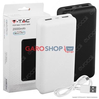 Immagine di V-TAC VT-3502 POWER BANK PORTATILE 20000 MAH 2 USCITE USB 2,1A