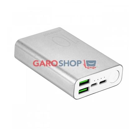 Immagine di POWER BANK 10000MAH FAST CHARGER 2USB+1 USB-C 15W SILVER