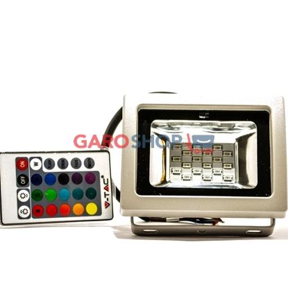 V-TAC VT-4711 RGB MULTICOLORE FARETTO LED 10W DA ESTERNO CON TELECOMANDO INFRAROSSI