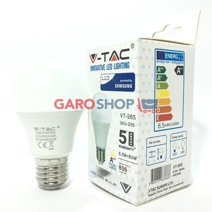 V-TAC PRO VT-265 LAMPADINA LED E27 6,5W BULB A60 CHIP SAMSUNG