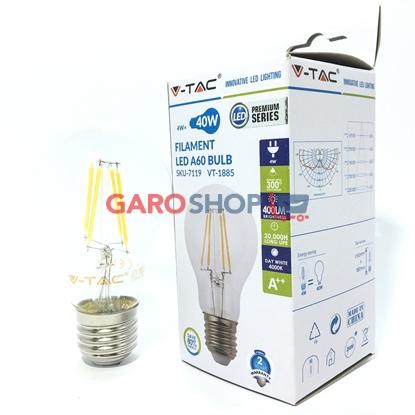 V-TAC VT-1885 LAMPADINA LED E27 4W BULB A60 FILAMENTO