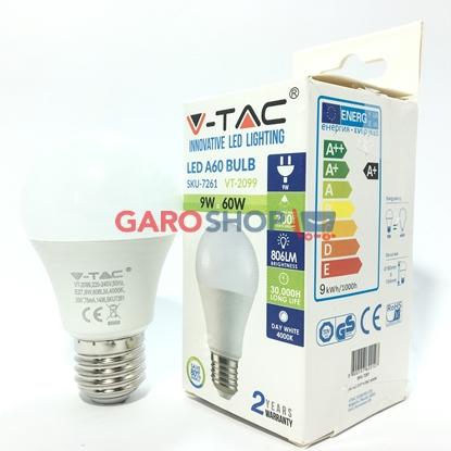 V-TAC VT-2099 LAMPADINA LED E27 9W BULB A60
