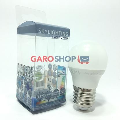 SKYLIGHTING LAMPADINA LED E27 6W MINIGLOBO G45