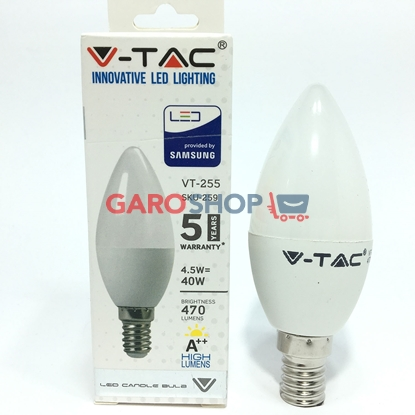 V-TAC PRO VT-255 LAMPADINA LED E14 4,5W CANDELA CHIP SAMSUNG