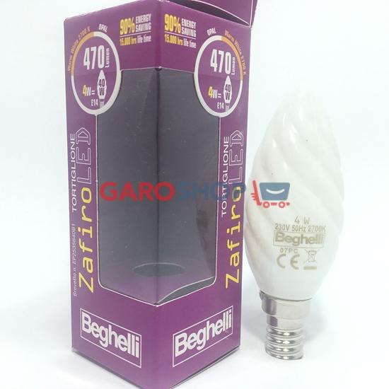 LAMPADA zafiro LED (cri95) CANDELA TORTIGLIONE OPALE 4W