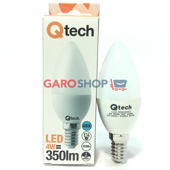 QTECH LAMPADINA LED E14 4W CANDELA
