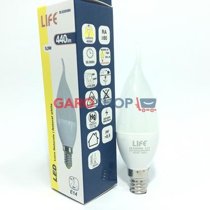 LIFE LAMPADINA LED E14 5,5W CANDELA FIAMMA