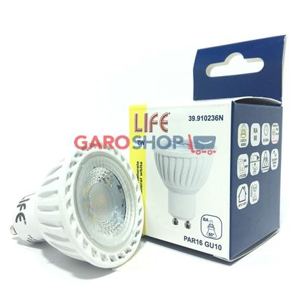 Faretto LIFE LED PAR16 con potenza di 7W e attacco GU10