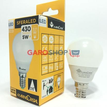 MARINO CRISTAL SERIE ECO LAMPADINA LED E14 5W MINIGLOBO