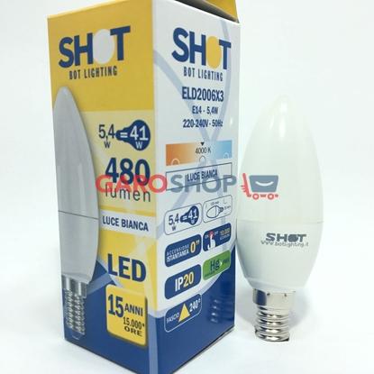 BOT LIGHTING SHOT LAMPADINA LED E14 5,4W CANDELA