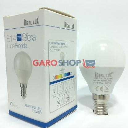 IDEAL LUX LAMPADINA LED E14 7W MINIGLOBO P45