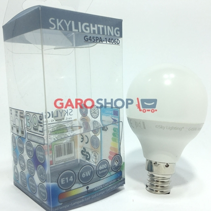 SKYLIGHTING LAMPADINA LED E14 6W MINIGLOBO P45